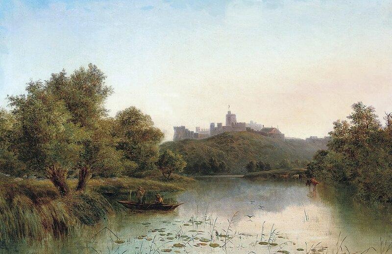 Виндзорский замок и Темза на картине художника Джорджа Огастэса Уильямса (вторая половина XIX века)