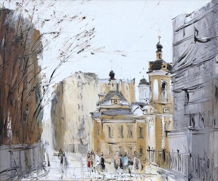 Городской пейзаж. Евгений Бойко