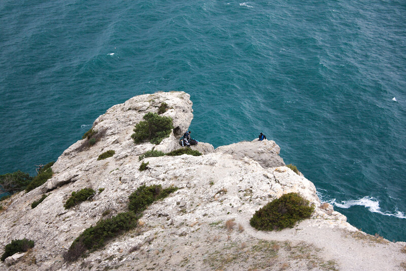 Вид со скалы на море