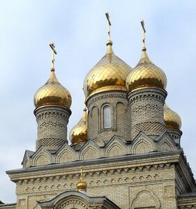 Начало января, храм в Новопокровке