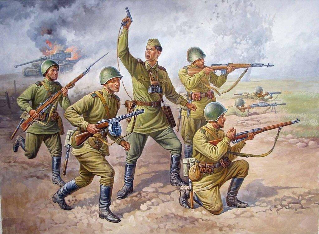 Советский пехотный взвод на Курской дуге (Олег Федоров)