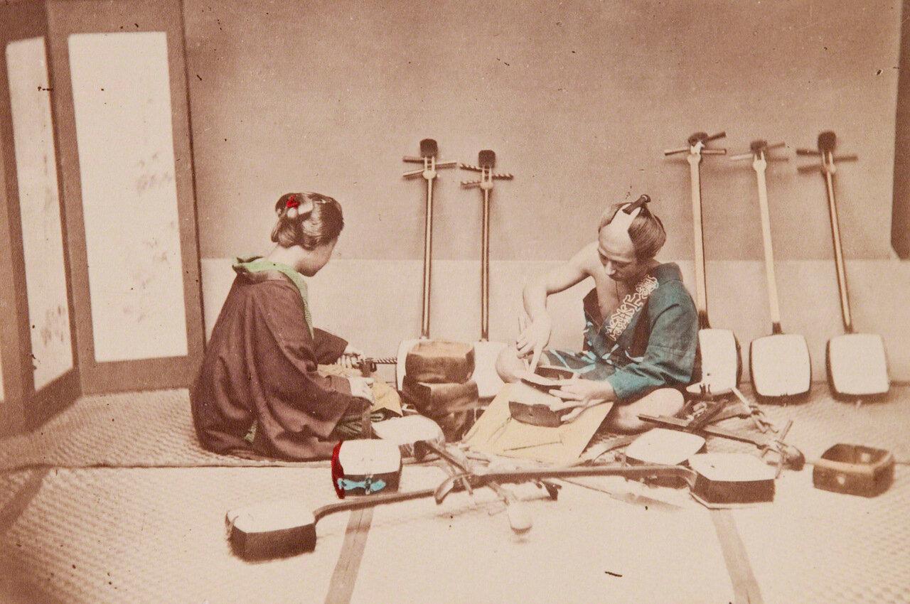 Мастер по изготовлению сямисэн