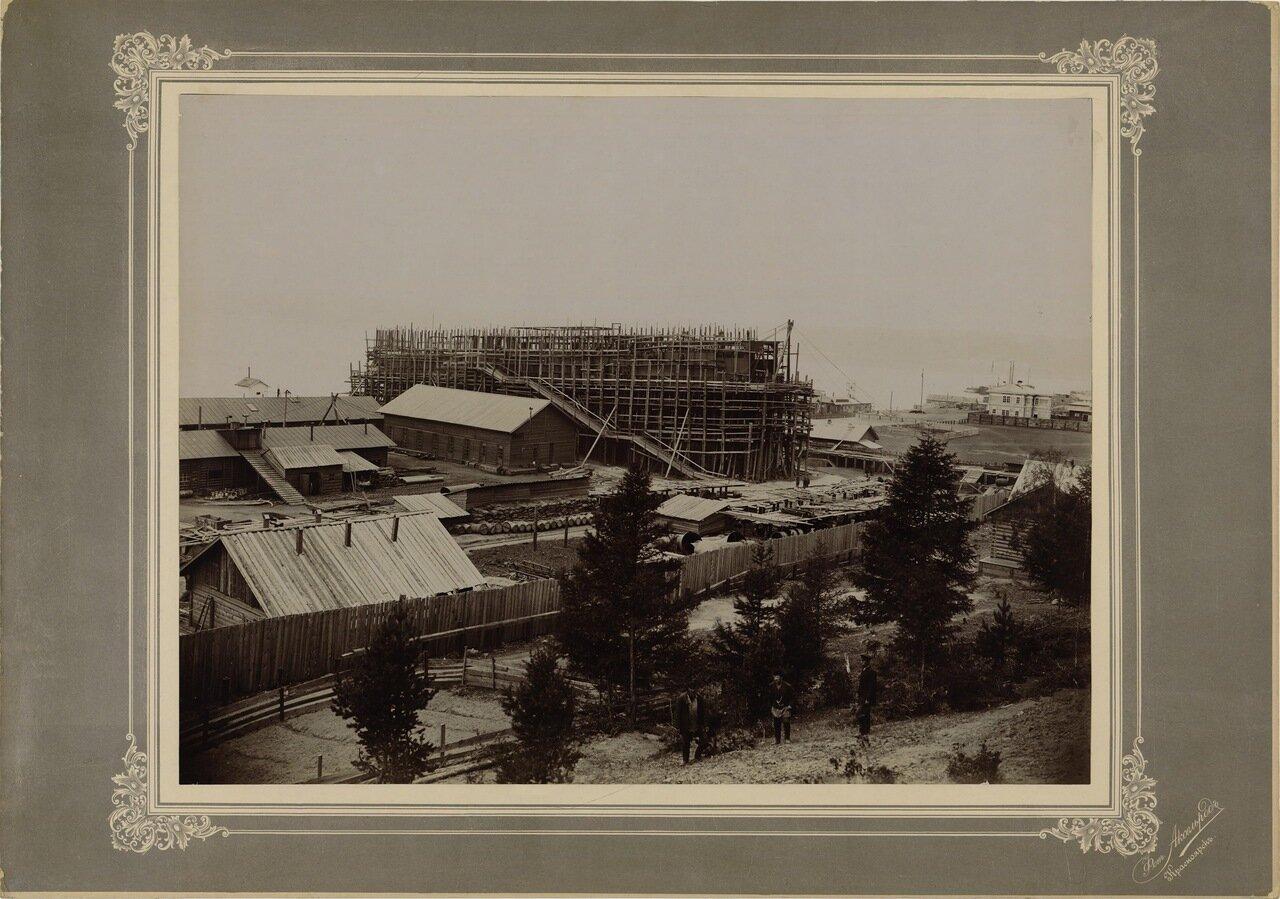 Спуск ледокола  17.07.1899. Село Лиственичное