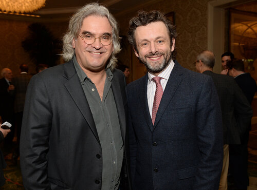 BEVERLY HILLS, CA - JANUARY 10: Director Paul Greengrass (L) and actor Michael Sheen attend the 14th annual AFI Awards Luncheon at the Four Seasons Hotel Beverly Hills on January 10, 2014 in Beverly Hills, California. (Photo by Michael Kovac/Getty Image