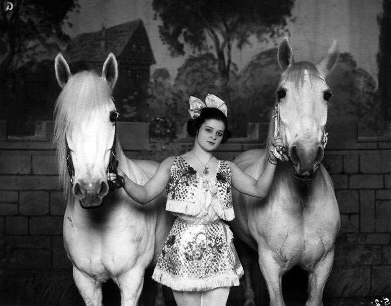 Mary Wirth, bareback rider - 1920