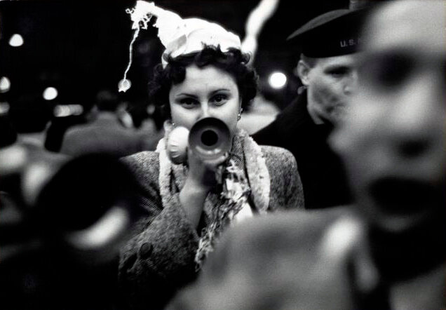 New Year's Eve, Times Square, 1951.  Photograph by Dan Weiner