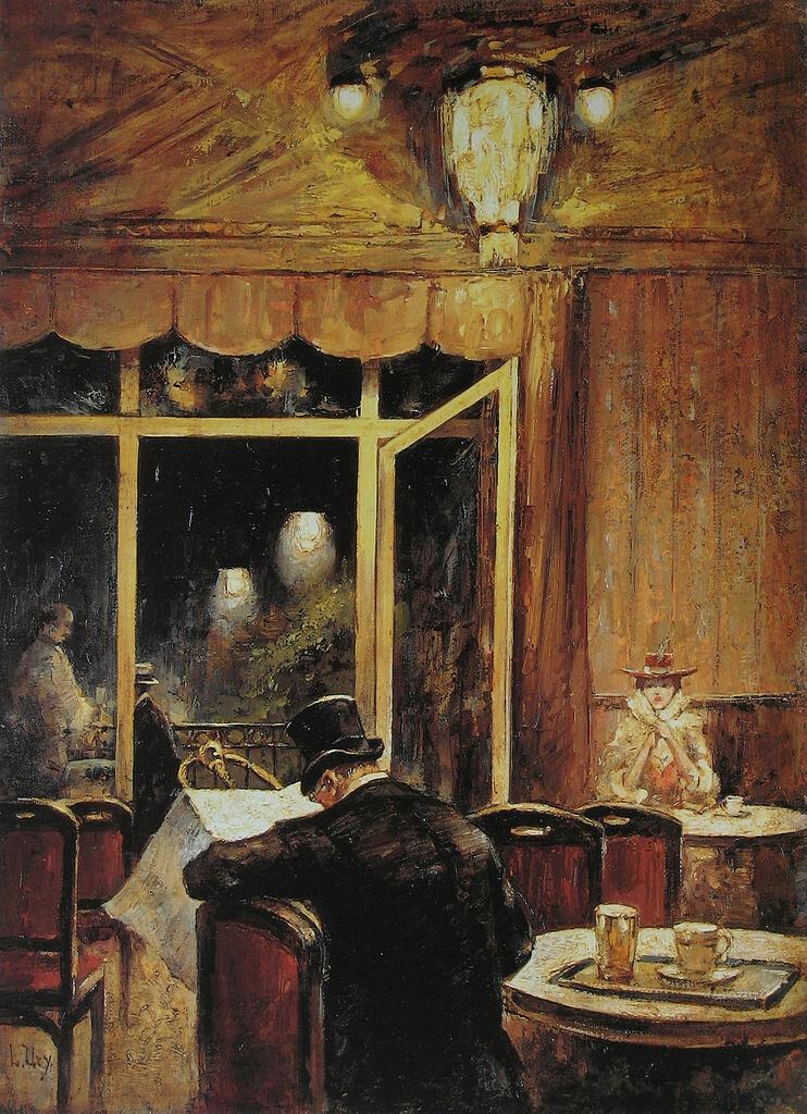 "Вечер в кафе ""Бауэр""(3) 1898, Лессер Ури (1861-1931)"