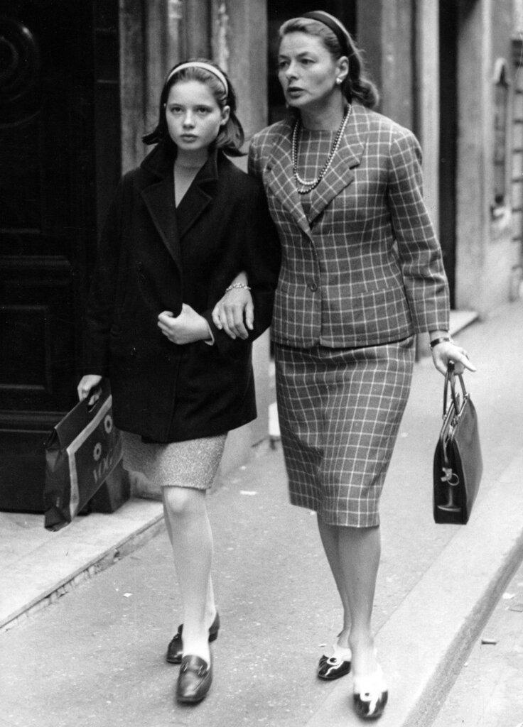 Ingrid BERGMAN und ihre Tochter Isabella ROSSELLINI