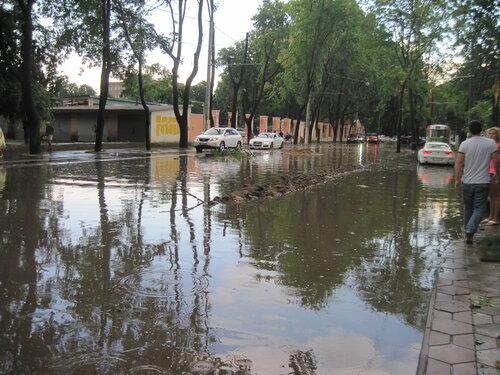 участок Французского бульвара после ливня