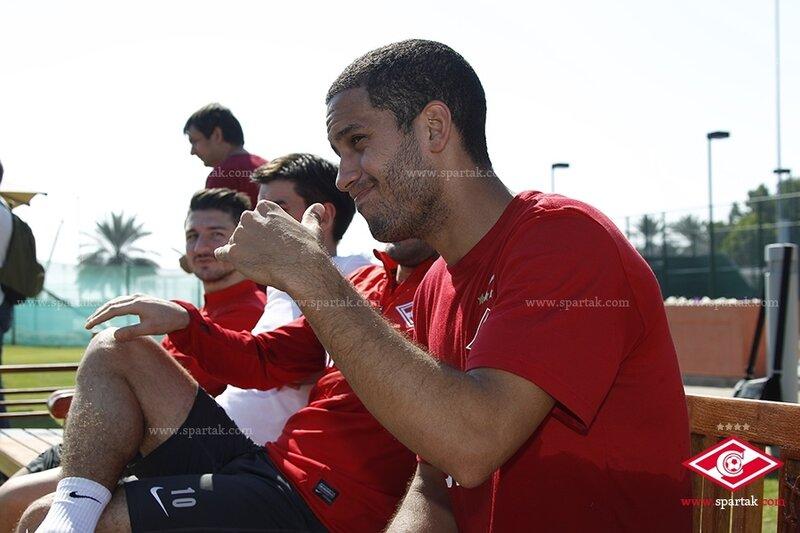 Первая тренировка «Спартака» на сборе в Эмиратах (Фото)