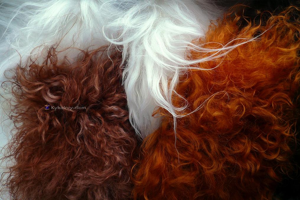 шкура козы, парики для кукол из шкур.волосы для кукол натуральные