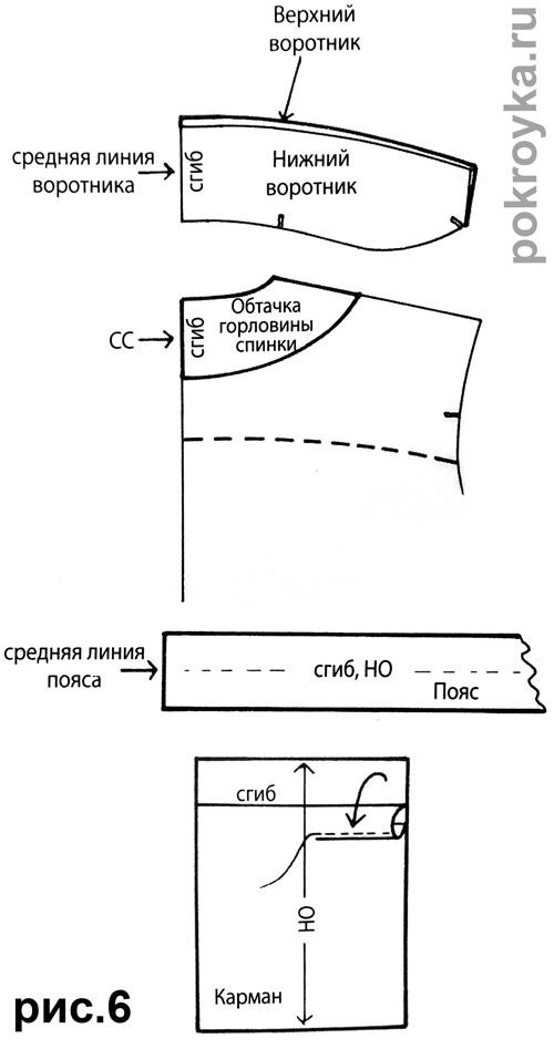 Как сделать воротник для халата