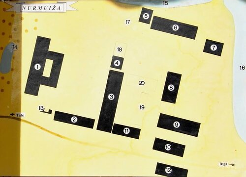План территории имения Нурмуйжа