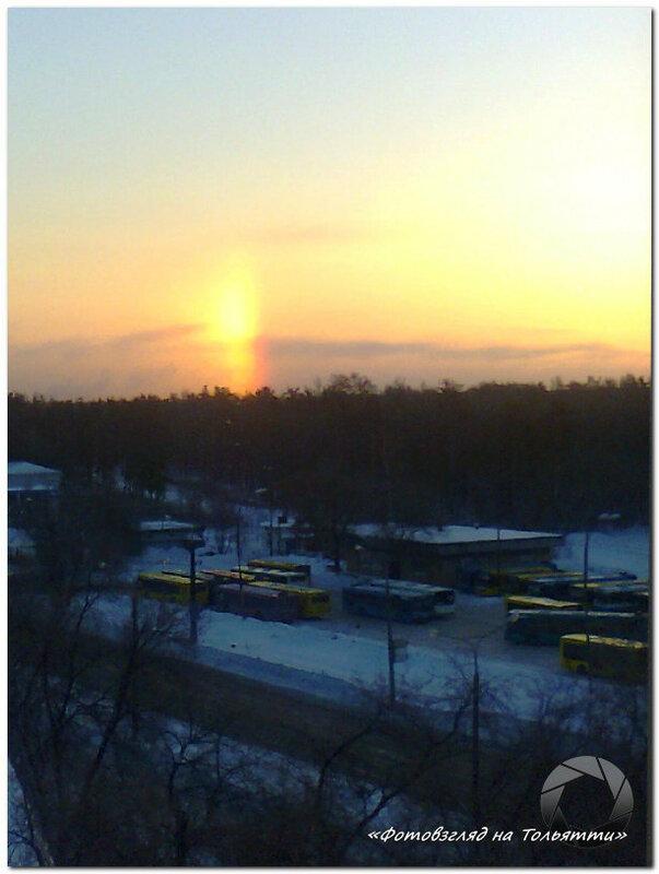 Солнечное гало в Тольятти