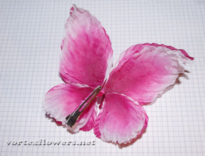 Бабочка из ткани, мастер-класс