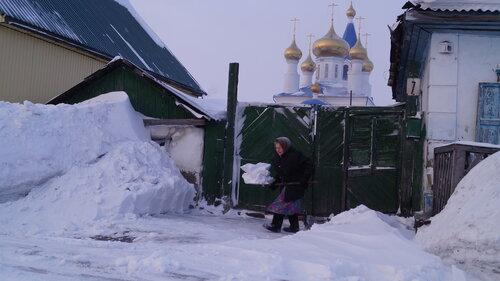 Барабинск очищают от снега, Аспект