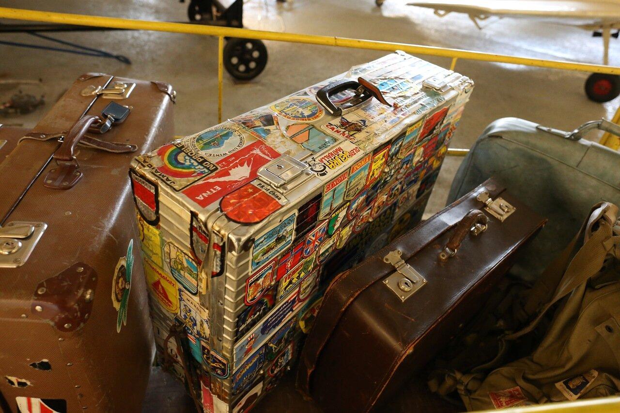 Helsinki-Vantaa Air Museum. Suitcases