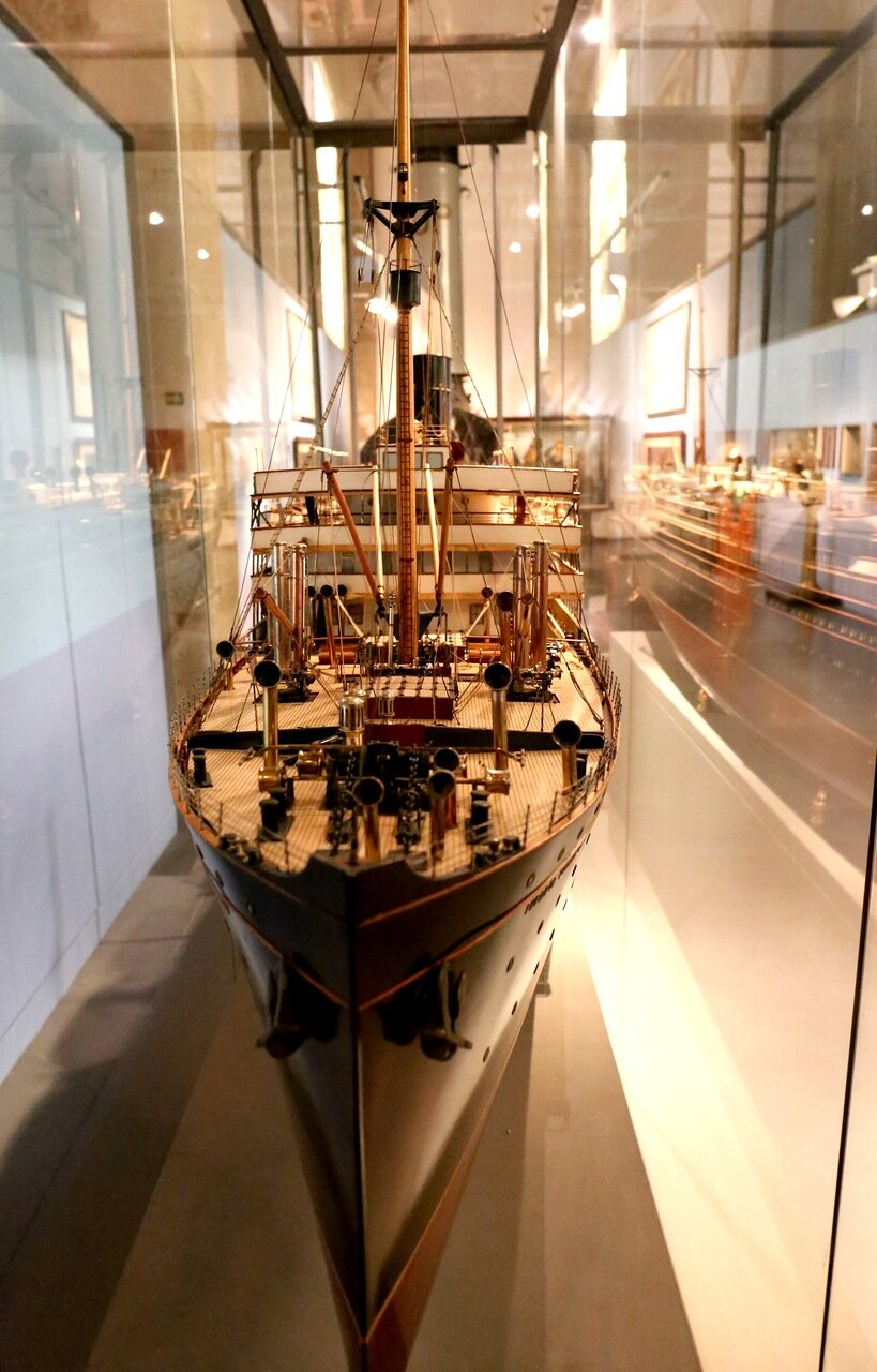 Maritime Museum of Barcelona. Passenger steamship of the early 20th century