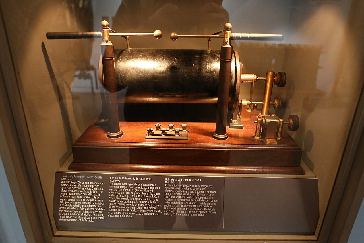 Maritime Museum of Barcelona. the spark transmitter