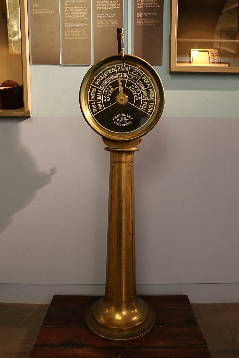 Maritime Museum of Barcelona. Engine Telegraph