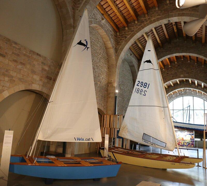 Морской музей Барселоны. катамаран