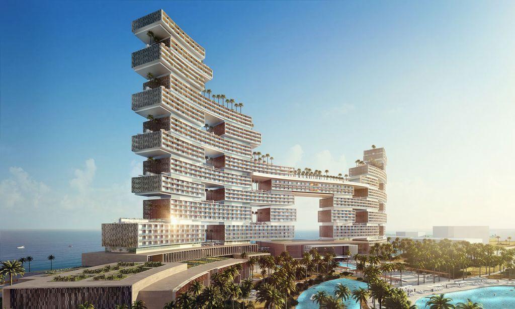 4. Royal Atlantis — роскошный отель из стекла в ОАЭ В Дубае в 2017 году можно будет увидеть потрясаю