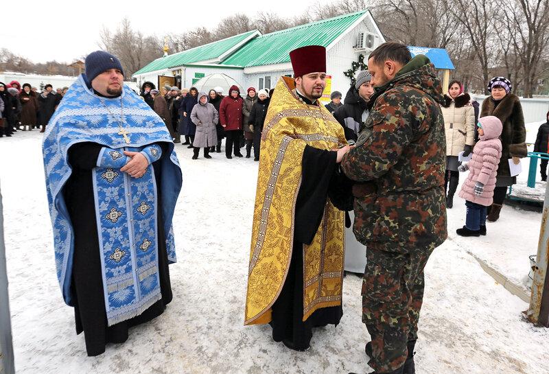 сегодня Богородица прибыла в Алексеевку.....