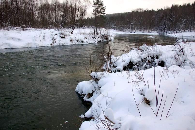 Зимний сплав на реке Илеть