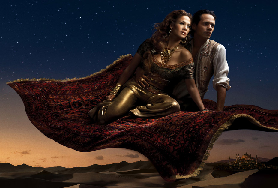Disney's Year of a Million Dreams by Annie Leibovitz - Jennifer Lopez and Marc Anthony as Jasmin and Aladdin / Дженнифер Лопес и Марк Энтони в образе Жасмин и Аладдина