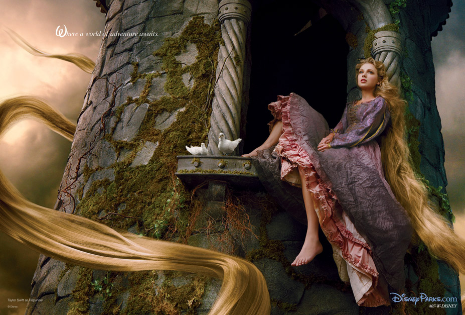 Disney's Year of a Million Dreams by Annie Leibovitz - Taylor Swift as Rapunzel / Тэйлор Свифт в образе Рапунцель