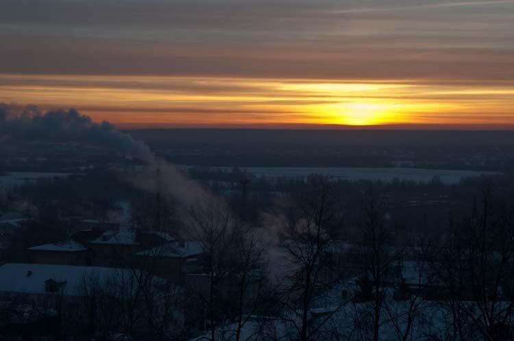 Владимир. 1 февраля. -22 градуса