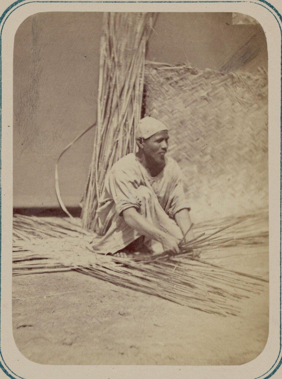 Камышовое производство. Приготовление плетенок