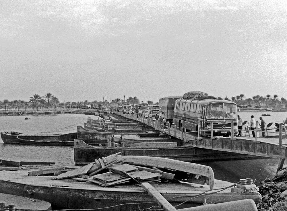 Иран. Понтонный мост в Басре