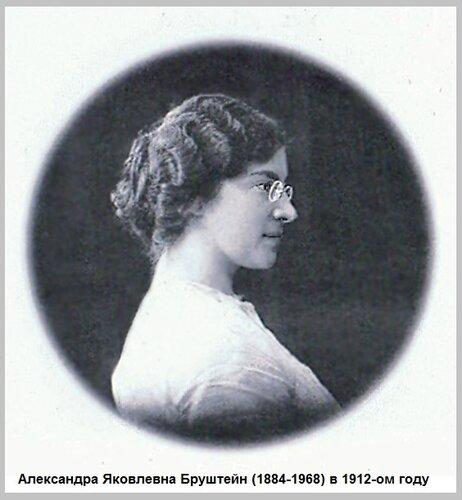 Александра Яковлевна Бруштейн в 1912 году