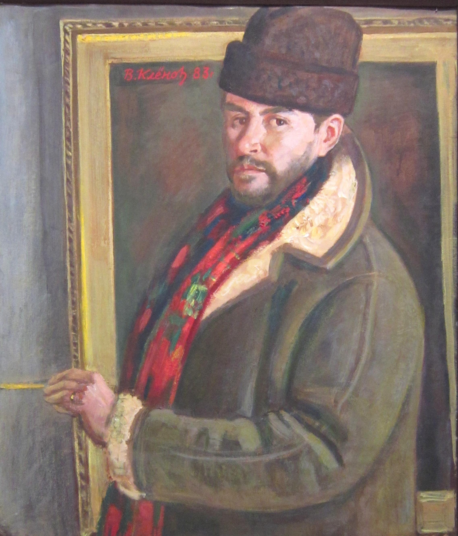 Владимир Михайлович Клёнов (род. в 1932 году).  Автопортрет. 2009 год.
