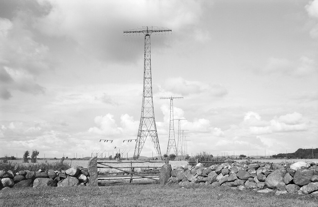 Halland, Varberg, Grimeton, Halland, Byggnadsverk-Kommunikationsväsen-Radiostation