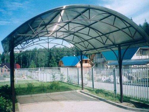 Навесы из поликарбоната цена и качество материала