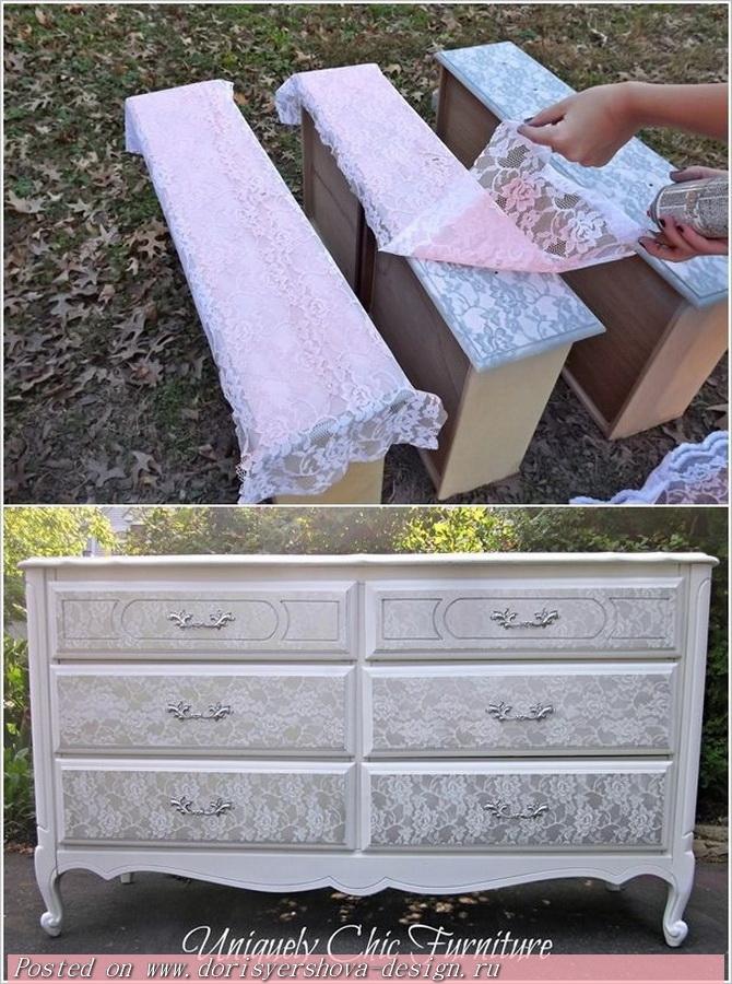Декорирование старой мебели своими руками фото до и после