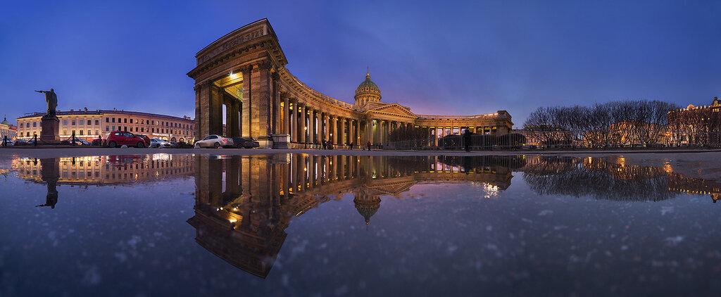 Вечерний Петербург. Панорама Казанского собора.jpg