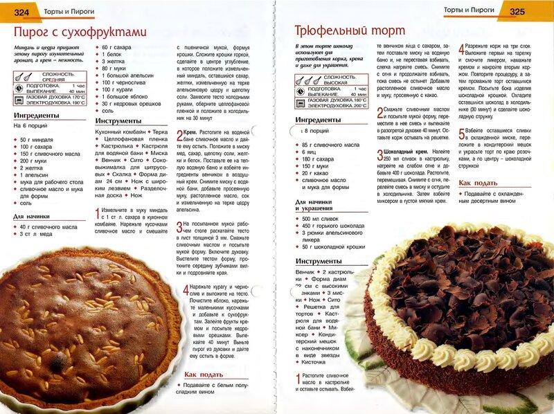 Простые рецепты тортов и пирогов