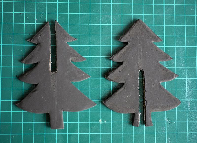 6.04 Глиняные заготовки елки