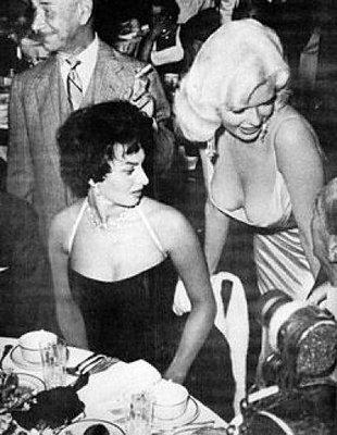 Jayne Mansfield and Sophia Loren
