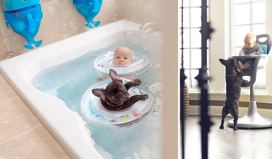 2. «Заплыв в ванне или обед — они все делают вместе».