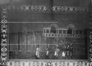 """""""Наполеон в Московском Кремле"""" - сцена из постановки живых исторических картин."""