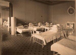 Вид чвсти палаты № 3  в помещении госпиталя.