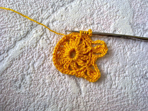 Мотив ирландского кружева цветок «Алиса»