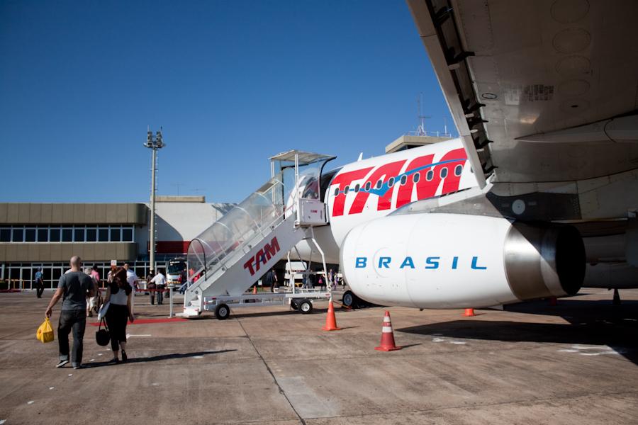 Бразилия, перелет из Сан-Паулу в Фоз-до-Игуасу