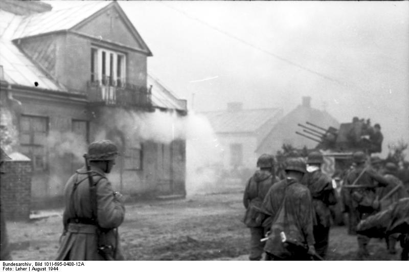Warschauer Aufstand, Soldaten, Vierlingsflak