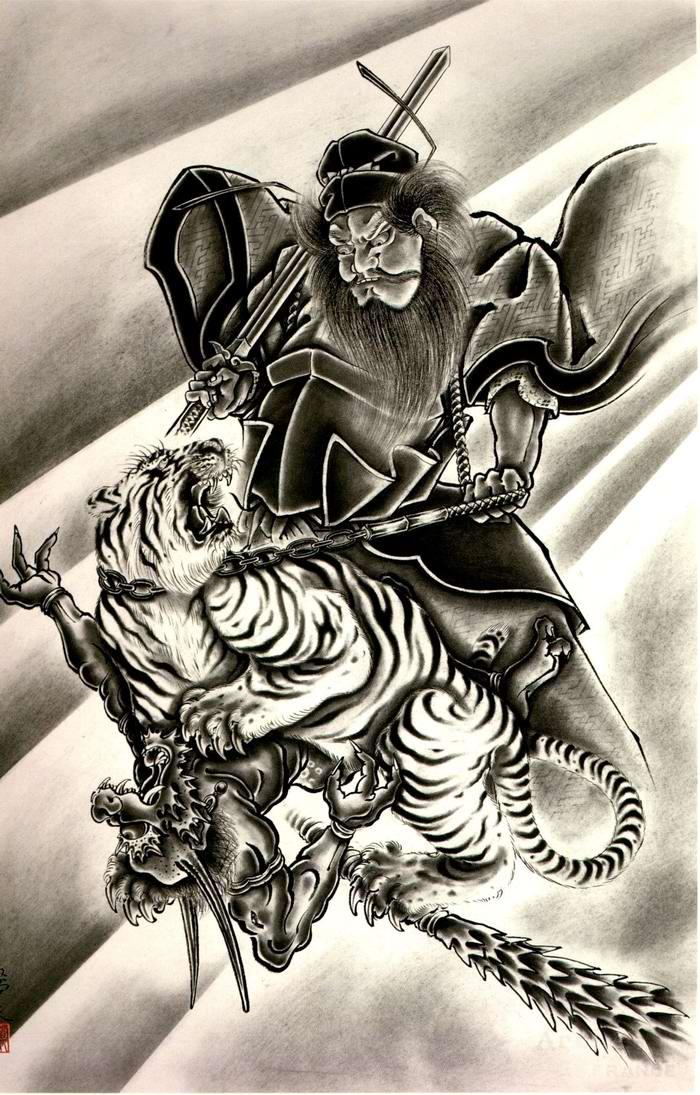 Злобные демоны на эскизах татуировок японского художника Horiyoshi (13)