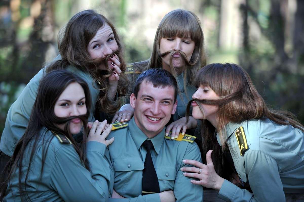 От тайги до британских морей ... : Лица девушек из Российской армии (5)